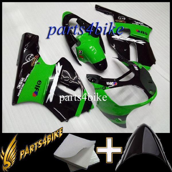Carena ABS stampo ad iniezione per Kawasaki ZX12R 00 01 ZX-12R 2000 2001 00-01 kit corpo moto nero verde