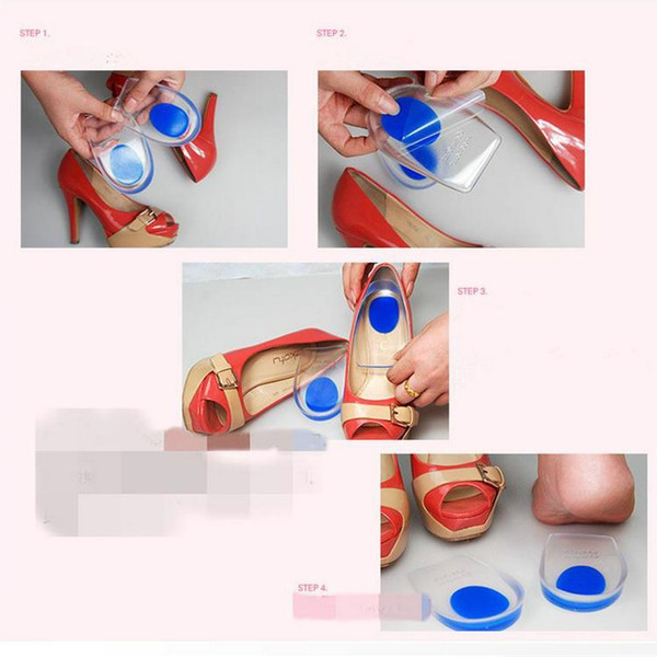 500pairs Good Quality Silicone Gel Height Insoles Massager for Shoes, PU Comfort Heel Cup Cushion Heel Pad Foot Care Cups for Men/Women