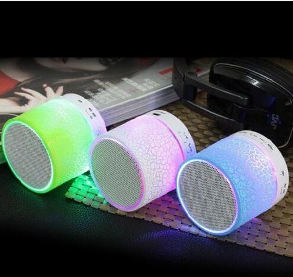colorful New arrives LED Bluetooth Speaker Mini Wireless Loudspeakers Support U Disk TF Card FM Radio Portable Stereo HiFi Speaker For Phone