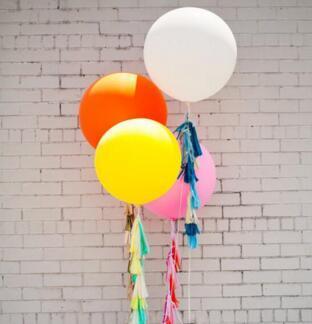 I grandi palloni liberi 36 di arrivo di trasporto libero incinano i palloni rotondi del lattice di porpora per la festa nuziale, 500pcs / lot