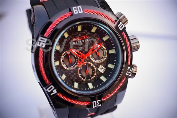 2018 free halloween shipping watch big dial silicone band blue red color watch and fashion business