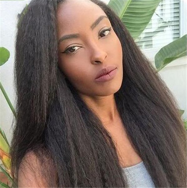 Lace Front Human Hair Wigs Black Women Mongolian Kinky Straight Remy Hair Lace Wigs With Baby Hair FDSHINE