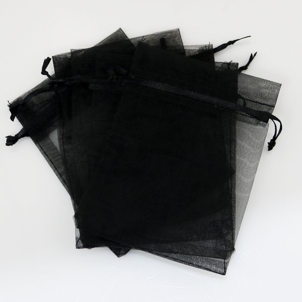 500pcs 7x9cm Black Plain Gift Packaging Bags For Jewelry Candy Toys Tea Soap Packaging Display Drawable Pouches