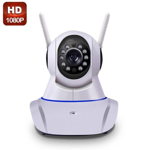 Double antenna Camera wireless IP camera WIFI Megapixel 1080p HD indoor Wireless Digital Security CCTV IP Camera + 64G TF memory card