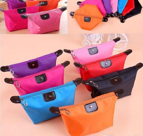 New Cosmetic Make Up Bag Clutch Hanging Toiletries Travel Kit Jewelry Organizer Casual Purse 2017 10 Colors High Quality Lady MakeUp Pouch