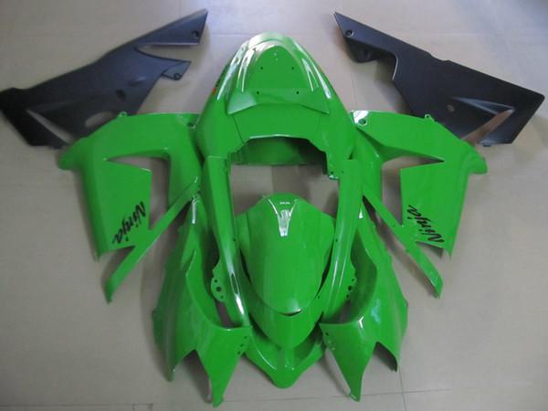 New hot moto parts fairing kit for Kawasaki ninja ZX10R 2004 2005 gold black fairings set ZX10R 04 05 IT35