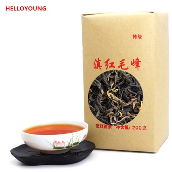Vendas Hot C-HC041 Dian chá Maofeng hong 200g grande tipo de chá prémio chá preto vermelho mao chinês feng dian hong famosa Yunnan 200g chá preto