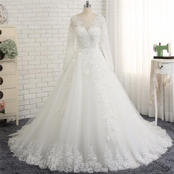 Venta al por mayor Vestido casamento civil 2018 Vestidos de novia de ...