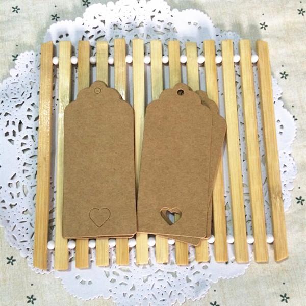 9*4cm 100pcs/lot White Brown Kraft Paper Wedding Gift Labels DIY Blank Food Label Message Tag weeding invitation