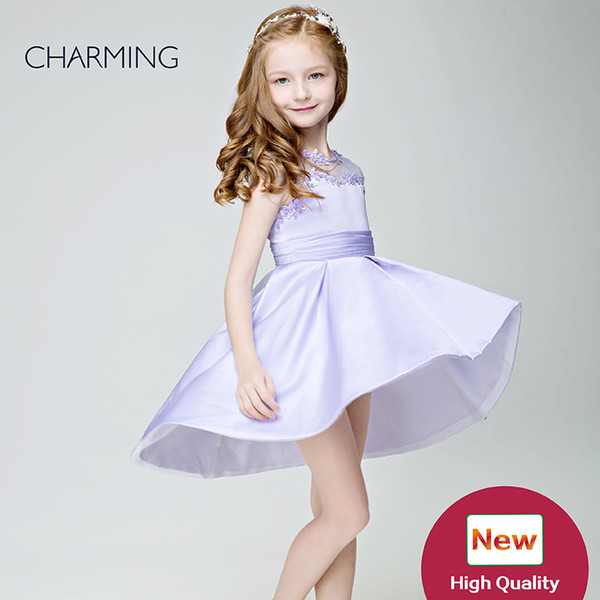 Small girl dress Dress design for child Lavender high quality Pageant dresses for girls China suppliers