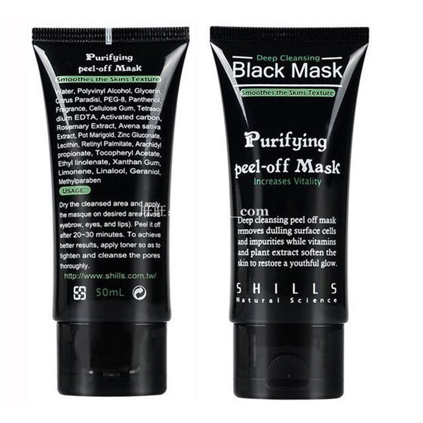 Shills Purifying Peel Off Black Mask Deep Cleansing Blackhead Remover Acne Treatment Black Heads Removal Nose Pore Cleaner Mud Facial Mask