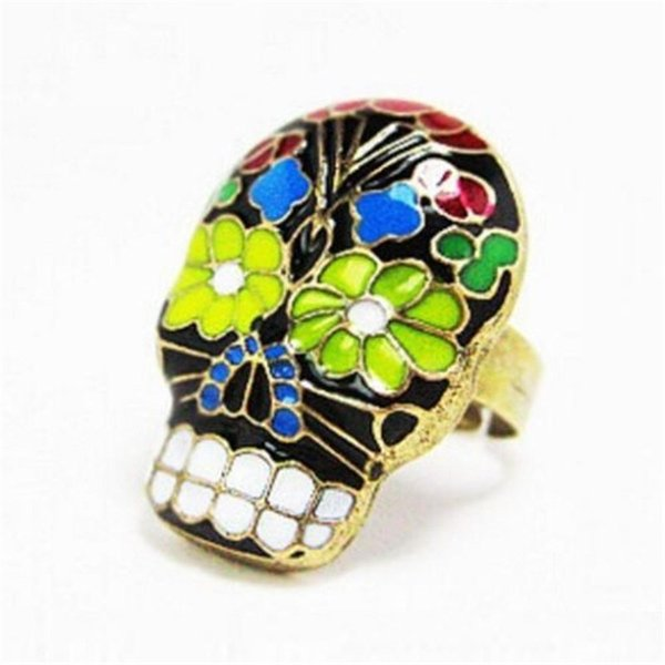 NEW Retro Jewelry Cool Women Skull Rings Grimace Mask Finger Ring Punk Hip Hop Rap Peking Opera Mask Finger Ring(Can Adjustable)
