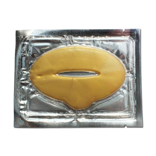 Novas mulheres senhora lábios cuidado ouro sexy membrana de cristal colágeno umidade umidade lábio máscaras