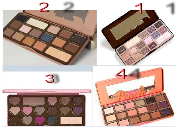 top popular free shipping DHL! High quality new makeup MIX chocolate bar  semi-sweet   bonbons  Sweet Peach palette eyeshadow palette with taste 2019