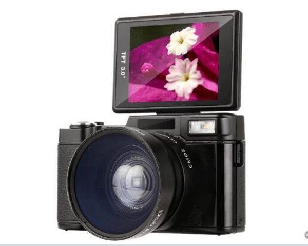 2017 new 24MP HD Half-DSLR Professional Digital Cameras with 4x Telephoto,Fisheye & Wide Angle Lens Camera Macro HD Camera