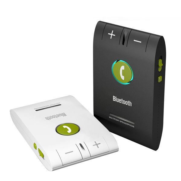 Großhandels-Bluetooth Freisprecheinrichtung Bluetooth Freisprecheinrichtung Drahtloses Telefon Auto Car Kit mit Car Charger A2DP Unterstützung Voice Call ID Bericht