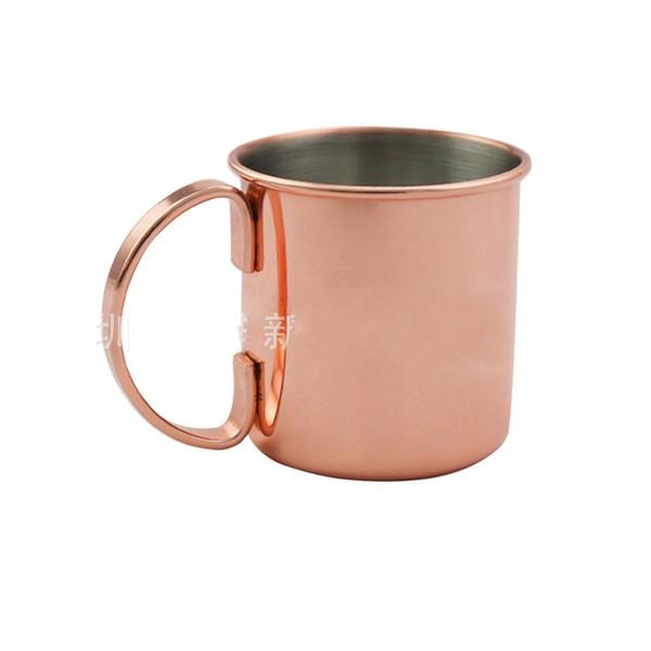 27yf Pratico in acciaio inox tazze di rame oro rosa Juliet tazze di vino Mosca mule tazza di cocktail robusta tazza per bar casa contenitore della bevanda