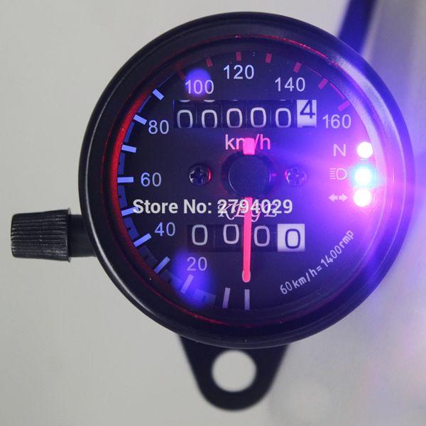 Motorcycle Dual Odometer Speedometer Gauge LED Backlight Fit For Harley Davidson