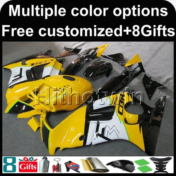 23colors + 8Gifts CBR600F3 amarillo 95-96 95 96 1995-1996 Carenados de ABS Carenado del kit Carenado para honda CBR 600 F3 1995 1996 Conjunto de carrocería de plástico ABS