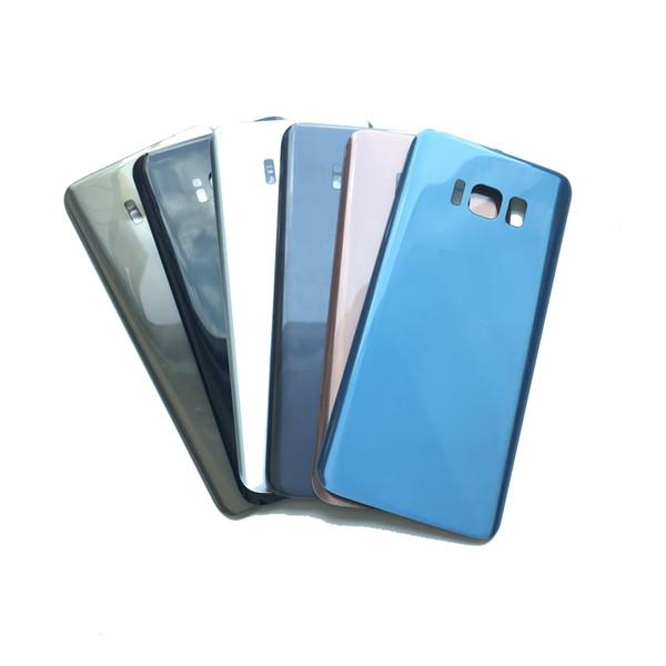 Корпус среднего шасси крышка батарейного отсека задняя дверь для Samsung Galaxy S8 G950 S8 Plus G955 черный синий золотой серый с клейкой наклейкой
