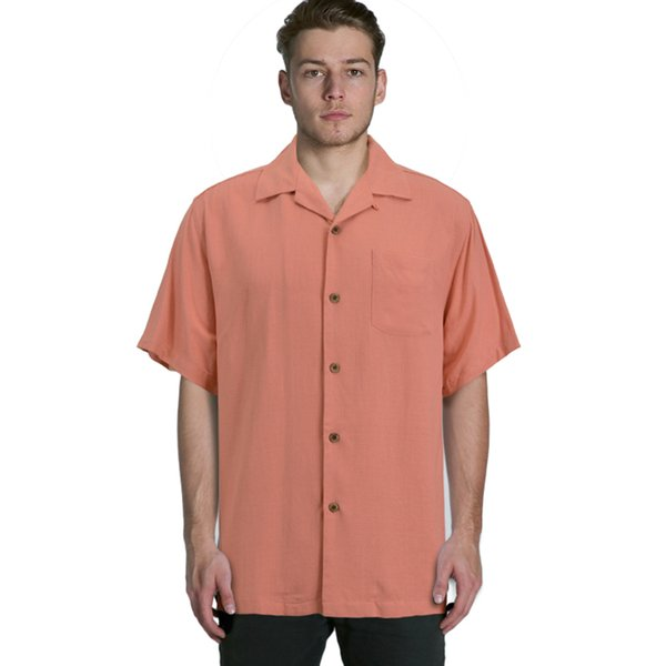 Wholesale- silk short sleeve loose plus big mens shirts big sizes us size