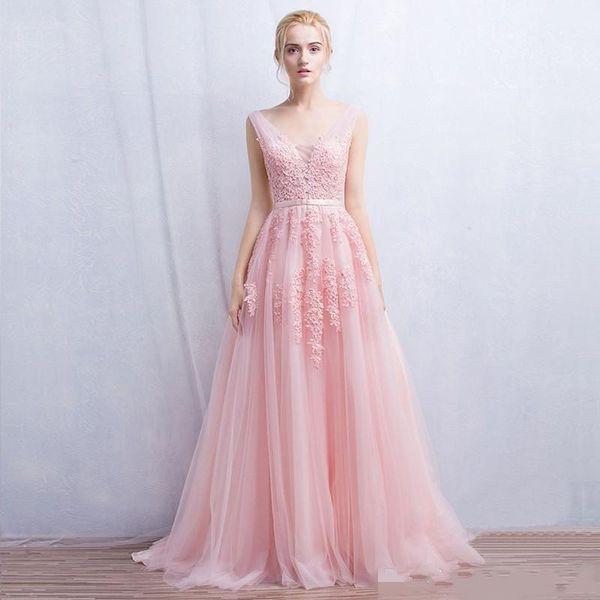 2017 Pink Navy Grey New Female Beauty Beauty Gown Long Soft Net V ...