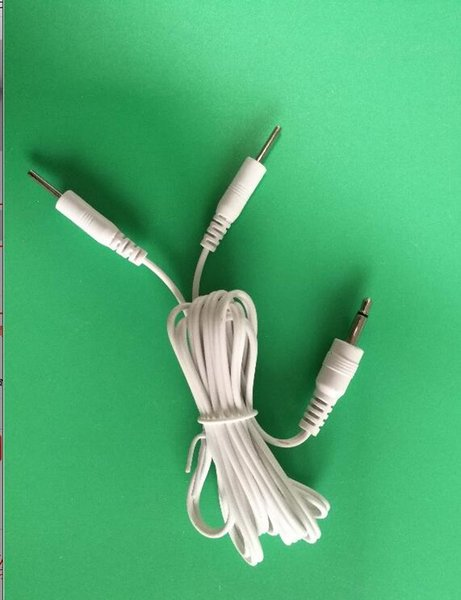 500pcs/lot 2 Pin electrode Lead wire Replacement Cable ~ 3.5mm for Electrotherapy TENS Units 1.5M