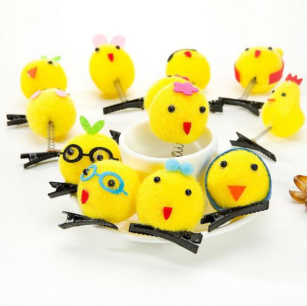 The new selling Meng cute little yellow chicken hairpin children cartoon hair headdress burst models FJ073 mix order 60 pieces a lot