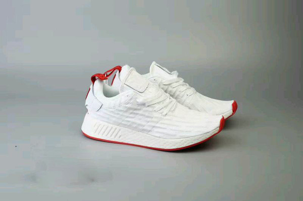 brand new 2c4ef 3ebaf 2019 With Original Box2017 NMD R2 White Red Sneakers Man And Woman Sports  Running Shoes From Vekeegan, $99.5 | DHgate.Com