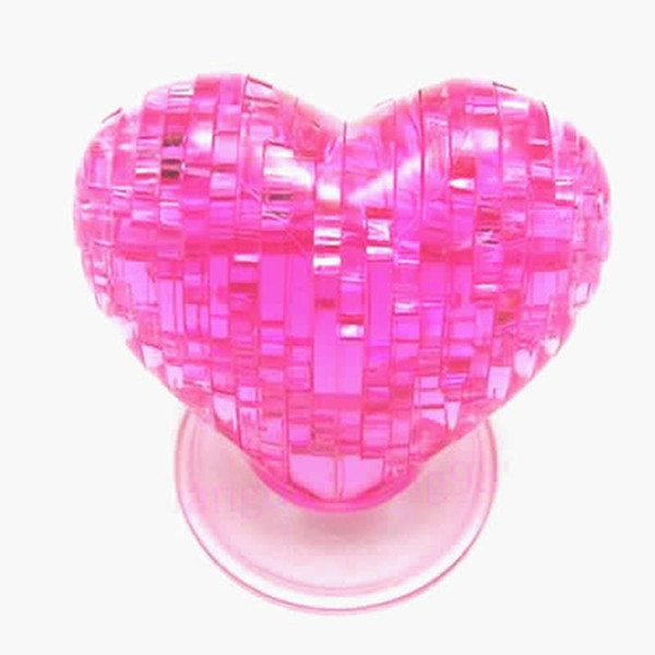 3D Crystal Model DIY Love Heart Puzzle Jigsaw IQ Toy Furnish Gift Souptoy Gadget