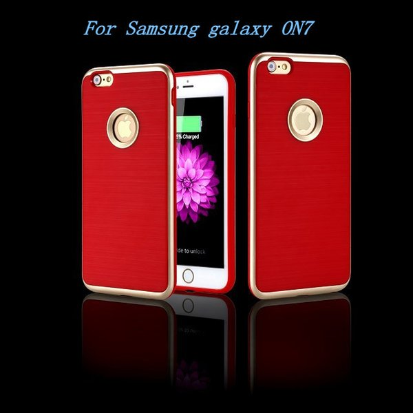 Armor Case For Samsung galaxy ON7 ON5 J3 J2 G530 G360 J1 Mini MOTOMO 3 in 1 Brushed Hybrid Dual Layer Protector cover
