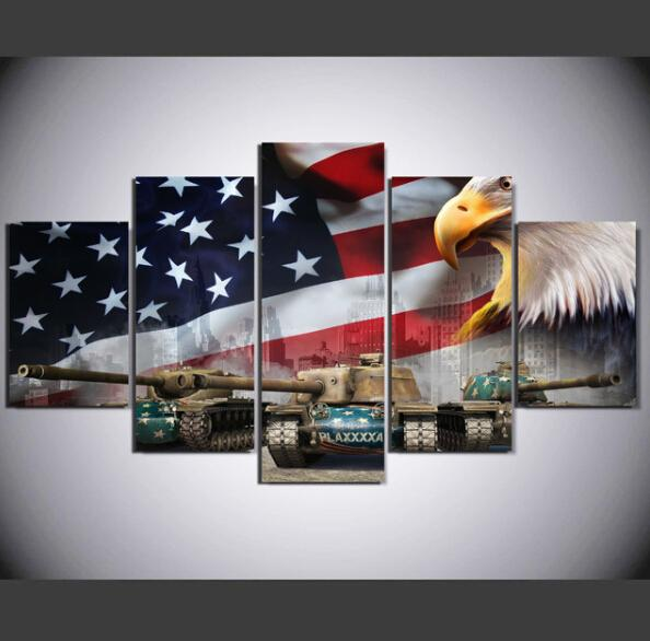 Printed Painting 5 piece Painting Painting Wall art roomted poster picture canvas Free shipping Framed Art decor Prin