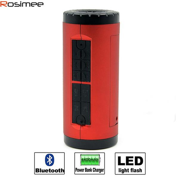 Venta al por mayor-portátil de bicicletas altavoz Bluetooth Estéreo Super Bass Subwoofer Soundbox Soporte TF Tarjeta LED FM Loundspeaker inalámbrico