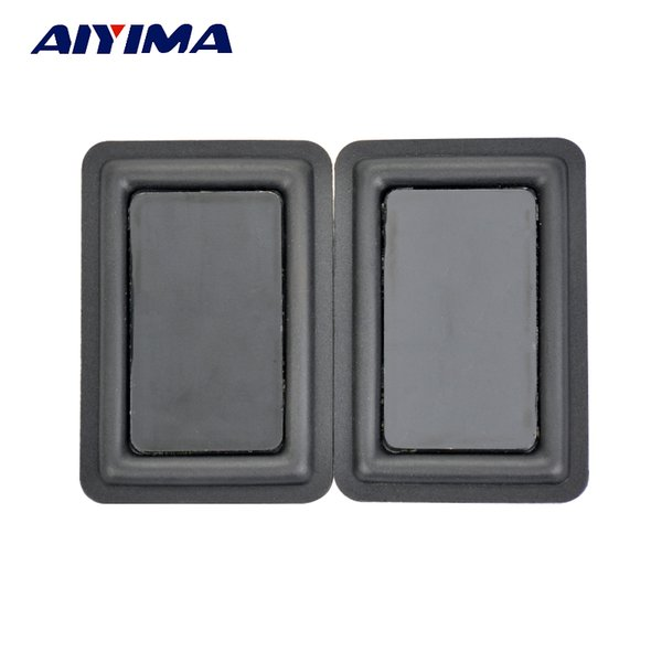 Wholesale- AYIMA 2pcs Defective Scratched 60 * 90MM Low-frequency Radiator Vibration Plate Panels Bass Passive Speaker For DIY