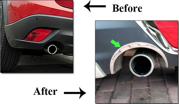 2pcs Stainless Steel Chrome Car Tail Pipe Edge Cover Trim Strips For MAZDA CX-5 CX5 2012 2013 Rearview Mirror Cover