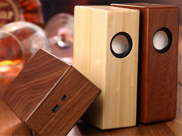 Neue Kreative Holz Induktion Lautsprecher Sound Verstärker Holz Drahtlose  Lautsprecher Tragbare Stereo Lautsprecher Holz Magie Induktion