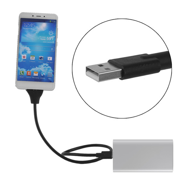 Flexible Micro USB Charger Data Cable Holder Bracket Dock Stand Connect Charging For Samsung For Xiaomi Android Mobile Phones