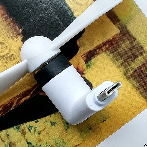 Mini USB Type-c Fan Ventilator Mini Portable Fan TPE Fan Electronic Gadget PC Cooler for Android iPhone Type C Unviersial Mobile Phone
