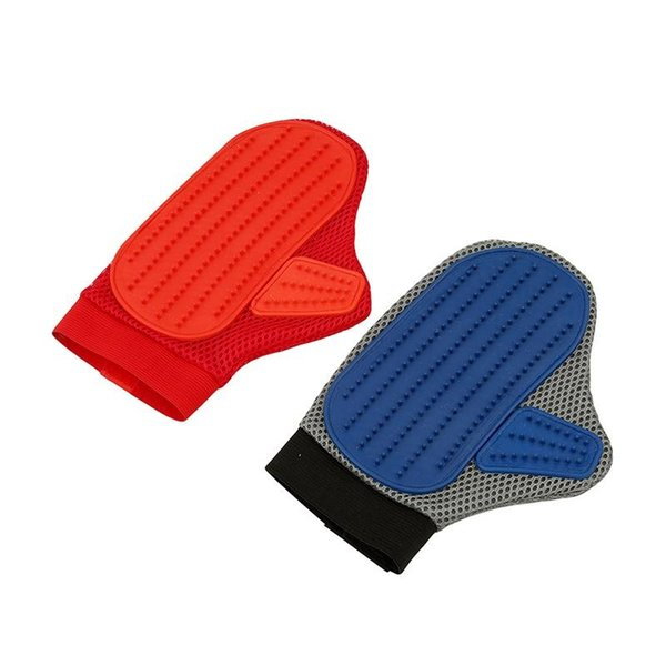 Trendy Pet Grooming Mittens Brush Massage and Bathing Comb Deshedding Tools Gloves for Dogs, Cats, Horses Silicone