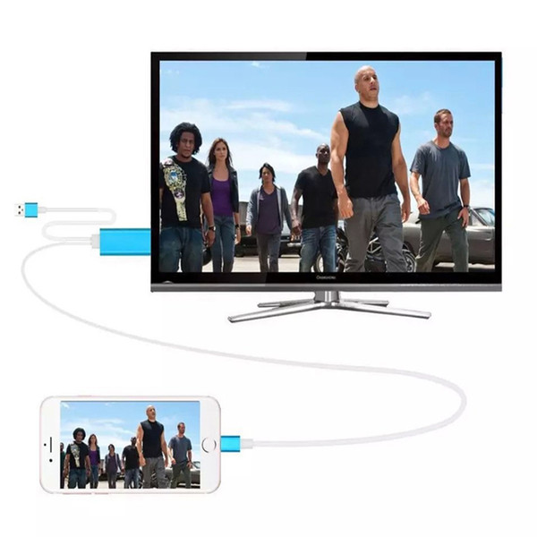 Dock to HDMI HDTV TV Adapter USB Cable 1080P For Smart Phone,Mobile phone,Android phone HDMI Cable with retail box