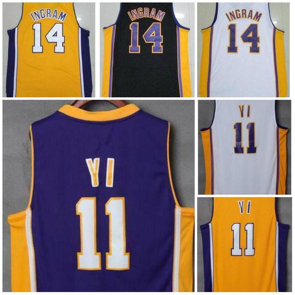 best sneakers 00a78 38237 Online Cheap A+ Men'S #14 Brandon Ingram #11 Yi Hollywood Nightss Home Road  Away Black Yellow Purple White Jersey By Liujiandh | Dhgate.Com