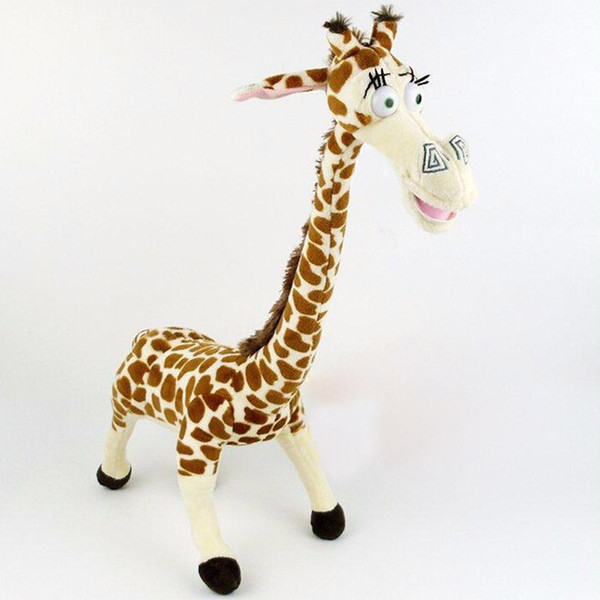 Lovely 35cm giraffe sleeping plush toys PP cotton stuffed animals dolls for child and friend birthday party gift