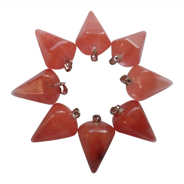 YZ110 10pcs Beautiful red agate pendulum Pendant Bead