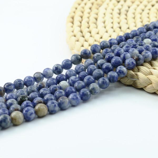 Perline di perle di sedimento di lapis perline semipreziose gemme semi preziose per monili che fanno 4/6/8 / 10mm 15 pollici Strand per Set L0081 #