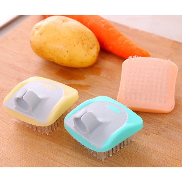 top popular Multi-functional Fruit Vegetable Fingers Cleaning Brush - Cooking Kitchen Tools Easy Clean Brush Potato Kitchen Home Gadgets 2020