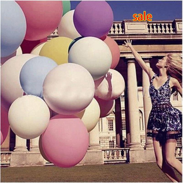 10PC Wholesale Colorful 36 Inches Round Giant Balloon Ball Helium Inflatable Big Large Latex Balloons For Birthday Party Wedding Decoration