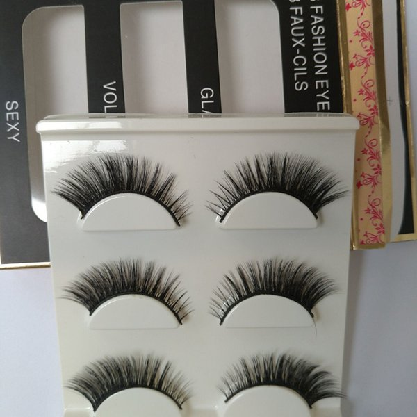 3D False Eyelashes Messy Cross Thick Natural Fake Eye Lashes Professional Makeup Tips Bigeye Long False Eye Lashes