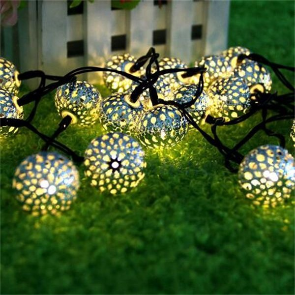 10 Balls LED Solar String Light Warm White Christmas Decoration Solar Lamp For Garden Wedding Party New Year Holiday Lighting