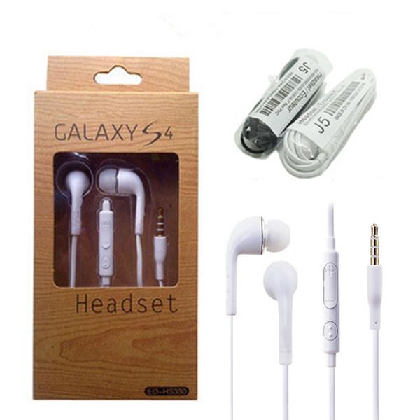 3,5-mm-In-Ear-Kopfhörer-Musik Dj-Kopfhörer-Headset mit Micropho für Samsung Galaxy S4 S5 S6 ohne Logo