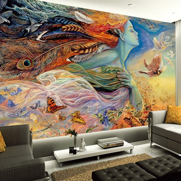 Fantasy Art Paintings Wall Mural Custom 3D Wallpaper Spirit Of Flight Photo Wallpaper  Bedroom Office Hotel
